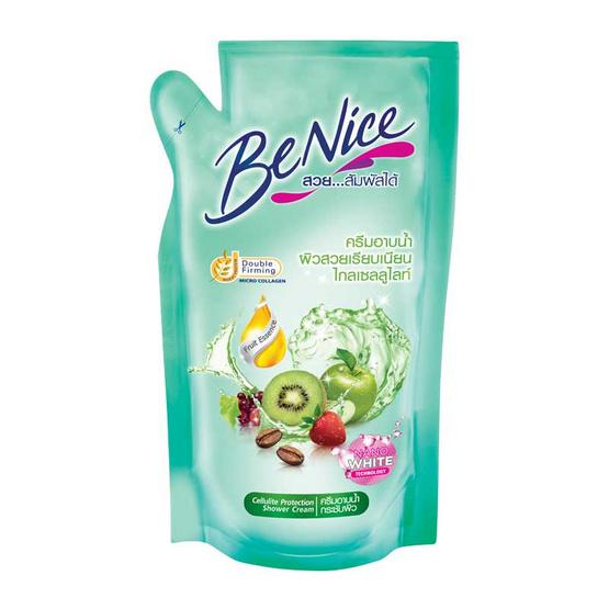 บีไนซ์ ครีมอาบน้ำ สูตรเพื่อผิวนุ่มกระชับ เขียว (ถุงเติม) 400 มล.