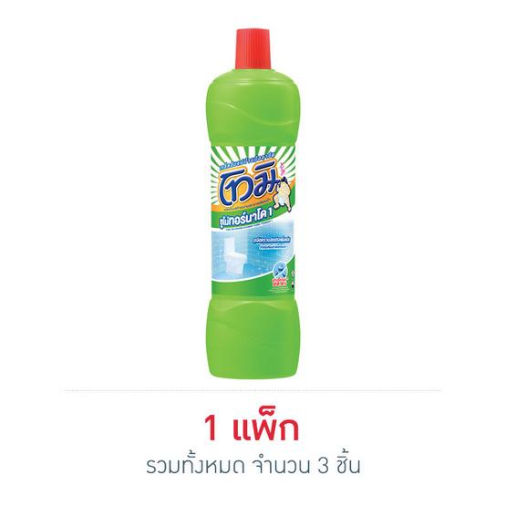 โทมิ น้ำยาล้างห้องน้ำ สีเขียว 850 มล. (แพ็ก 3 ชิ้น)