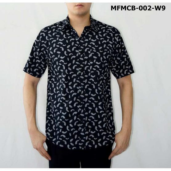 FM เสื้อเชิ้ตแขนสั้น (MFMCB-002-W9) สี NAVY