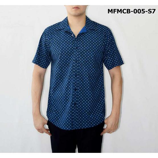 FM เสื้อเชิ้ตแขนสั้น (MFMCB-005-S7) สี DK.BLUE