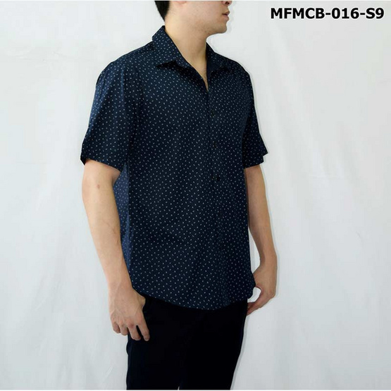 FM เสื้อเชิ้ตแขนสั้น (MFMCB-016-S9) สี NAVY