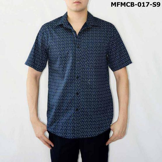 FM เสื้อเชิ้ตแขนสั้น (MFMCB-017-S9) สี NAVY