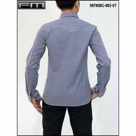 FM เสื้อเชิ้ตแขนยาว (MFMBG-002-S7) สี NAVY