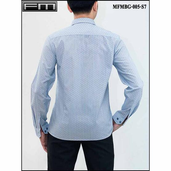 FM เสื้อเชิ้ตแขนยาว (MFMBG-005-S7) สี BLUE