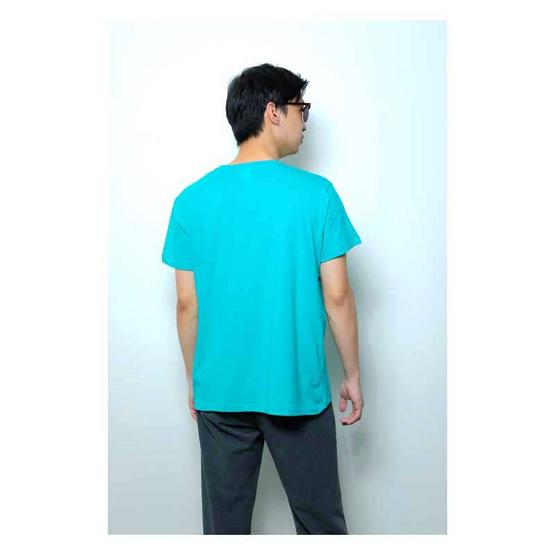 BLUE BEAR เสื้อยืดออแกนิคคอตตอนชายเขียวอ่อน