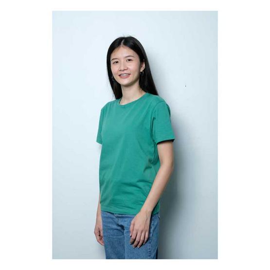 BLUE BEAR เสื้อยืดออแกนิคคอตตอนหญิงเขียว