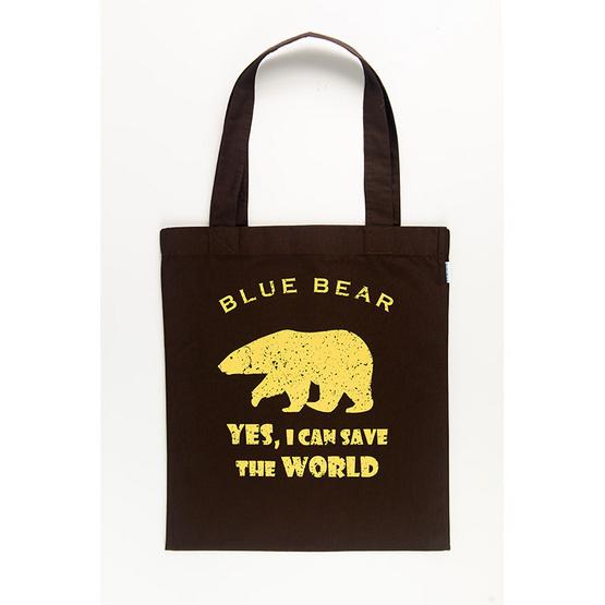 BLUE BEAR กระเป๋าผ้า Easy Care tote bag สีน้ำตาล