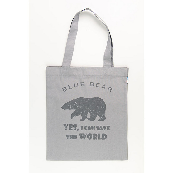 BLUE BEAR กระเป๋าผ้า Easy Care  tote bag สีเทา