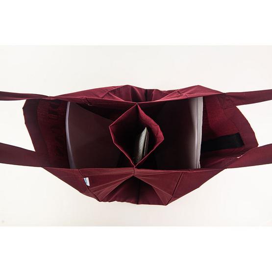 BLUE BEAR กระเป๋าผ้า Easy Care tote bag สีเลือดหมู