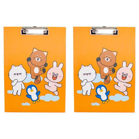 คลิปบอร์ดA4 DINGO FRIENDS DG404 สีส้ม