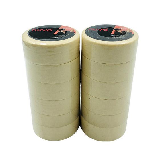 เทปกระดาษกาวย่นสำหรับอู่รถยนต์ Nuvo 18มม.x10หลา (12 ม้วน)