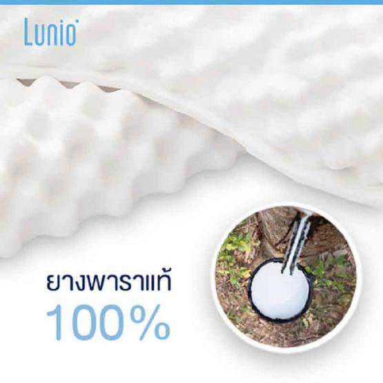 Lunio Double Wave Massage (ทรงKnobby) หมอนยางพาราแท้100% นวดศีรษะ บรรเทาปวดเมื่อย กระตุ้นระบบหมุนเวียนเลือด