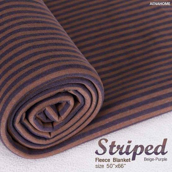Aena ผ้าห่ม STRIPED FLEECE