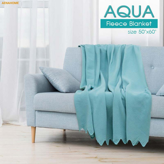 Aena ผ้าห่มฟลีซ AQUA