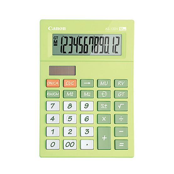 Canon Mini Desktop Calculator รุ่น AS-120V Green