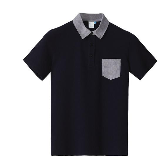 BLUE BEARเสื้อโปโลแขนสั้นผู้ชายรุ่นPOINTI(COMFOR-TECH)สีกรม