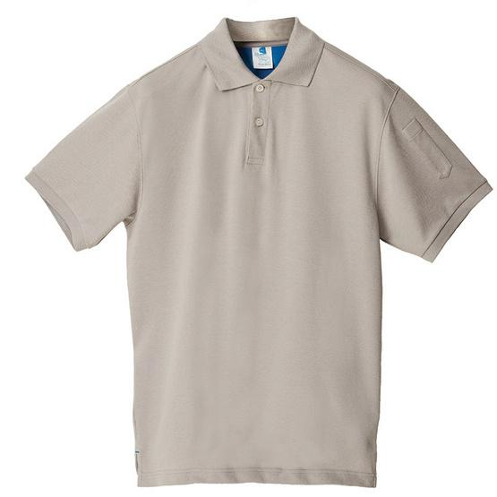 BLUE BEARเสื้อโปโลแขนสั้นผู้ชายรุ่นCLASSICI(Dry-Tech)เทาควันบุหรี่