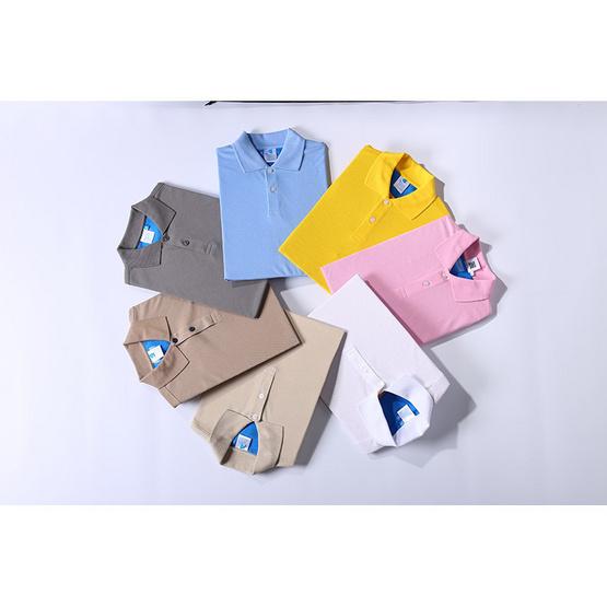 BLUE BEARเสื้อโปโลแขนสั้นผู้หญิงรุ่นCLASSICI(Dry-Tech)เทาควันบุหรี่
