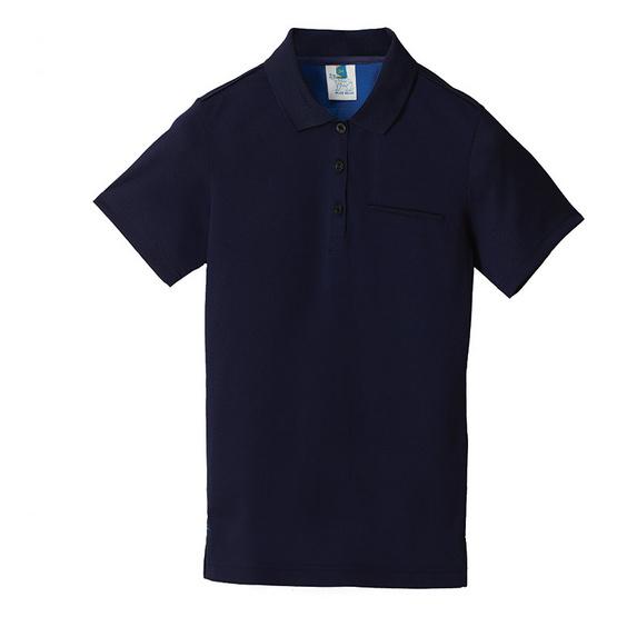 BLUE BEARเสื้อโปโลแขนสั้นผู้หญิงรุ่นNEOI(Syntrel)สีกรม