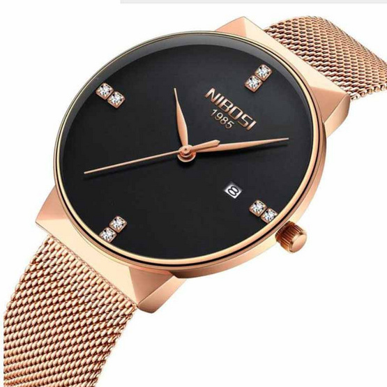NIBOSI นาฬิกาข้อมือรุ่น NI2323-RG/BK