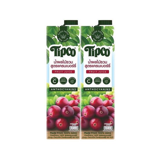 ทิปโก้ น้ำผลไม้รวม สูตรแครนเบอร์รี่ 100% 1,000 มล.