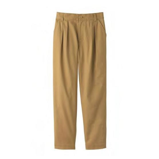 FABIA กางเกงขายาวทรงตรงสีเบจ