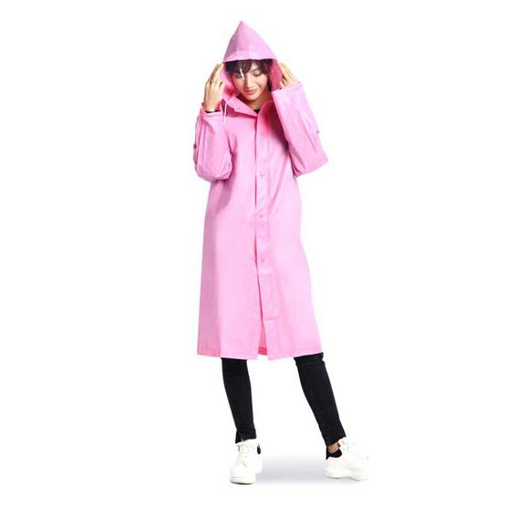 ชุดกันฝน Rain-PASTEL สีชมพู Free size