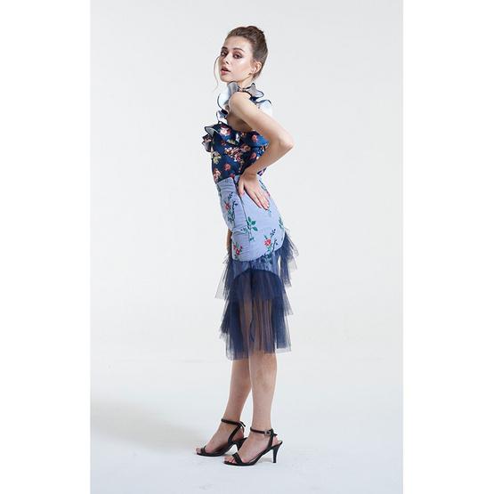 M2S กระโปรงสั้น สีฟ้า Duchess By พิมดาว