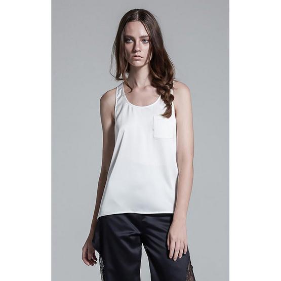 M2S เสื้อแขนกุด สีขาว JT by เจนี่