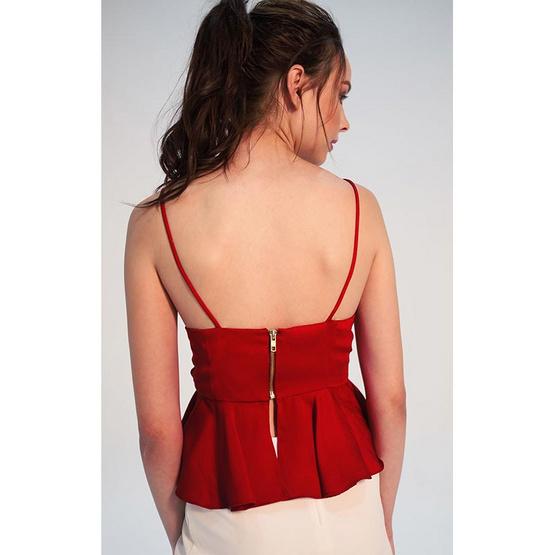 M2S เสื้อสายเดี่ยว สีแดง PunPun's By ปันปัน
