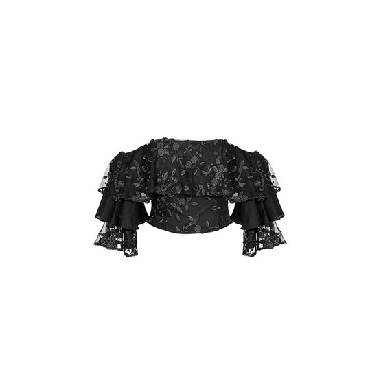 M2S เสื้อปาดไหล่ สีดำ PunPun's By ปันปัน