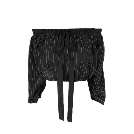 M2S เสื้อปาดไหล่ สีดำ Timali By ทัมทิม
