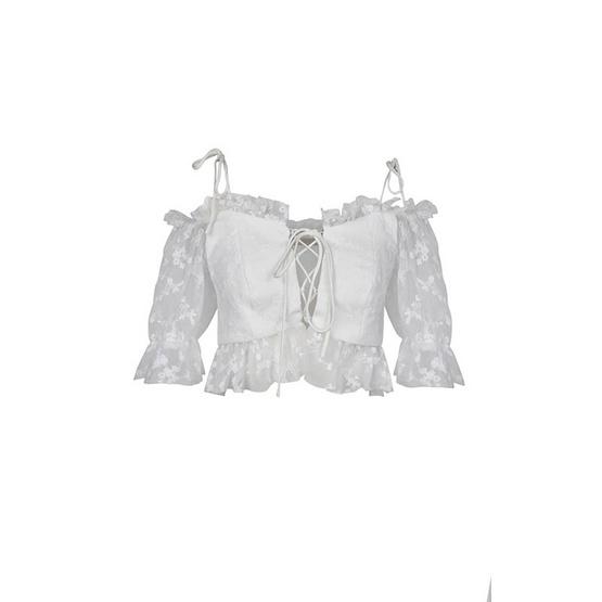 M2S เสื้อสายเดี่ยว สีขาว ARTIST. By ดิว
