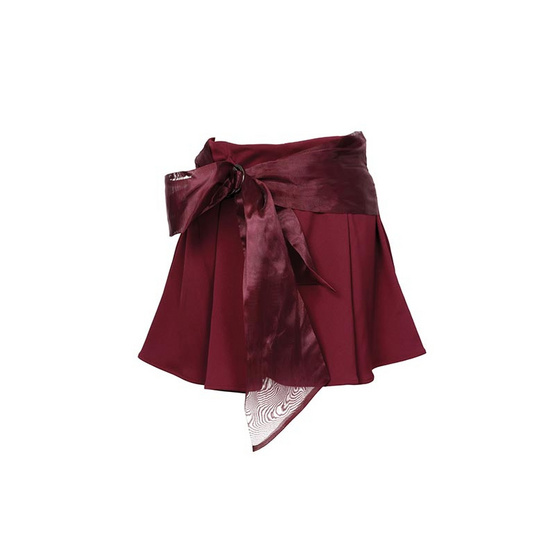 M2S กางเกงขาสั้น สีแดงมารูน BAIF By ใบเฟิร์น