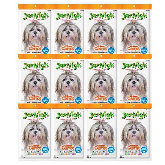 ขนมสุนัขเจอร์ไฮ สติ๊ก แครอท  70 กรัม (1แพ็ก 12 ชิ้น)