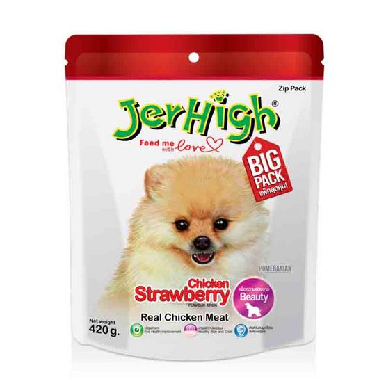 ขนมสุนัขเจอร์ไฮ สติ๊ก รสสตรอว์เบอร์รี่ 420 กรัม