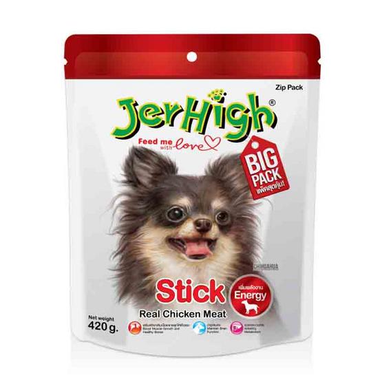ขนมสุนัขเจอร์ไฮ สติ๊ก รสไก่ 420 กรัม