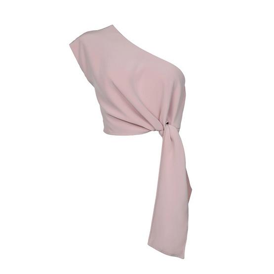 M2S เสื้อปาดไหล่ สีชมพู Ladiiprang By มะปราง