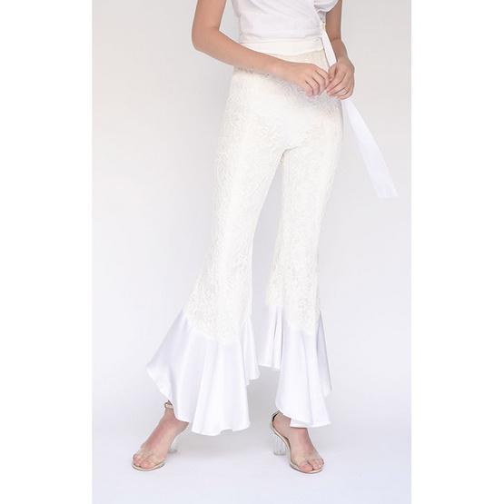 M2S กางเกงขายาว สีออฟไวท์ Ladiiprang By มะปราง