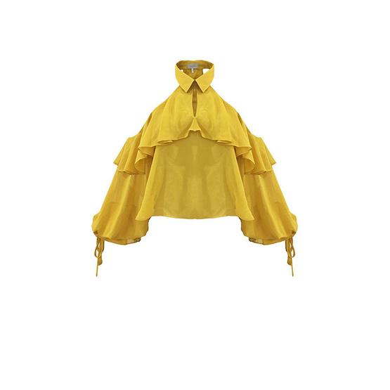 M2S เสื้อสายเดี่ยว สีเหลือง Chotika By เนย