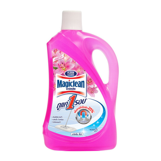 มาจิคลีน ทำความสะอาดพื้น ลิลลี่บูเก้ สีชมพู 1800 มล.