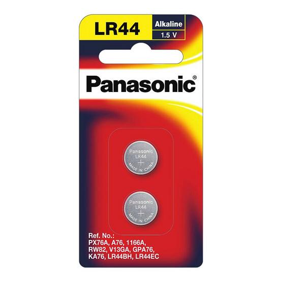 พานาโซนิค ถ่านเม็ดกระดุม LR-44 1.5 โวลต์(1แพ็ก2ชิ้น)