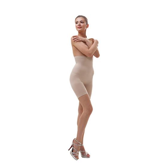 Swans กางเกงเอวสูงกระชับสัดส่วน สีเนื้อ