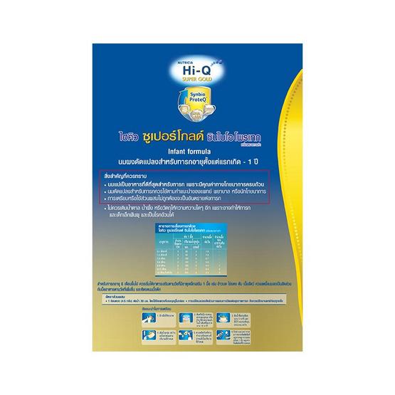 Hi-Q ซูเปอร์โกลด์ นมผงสูตร1 1800 กรัม