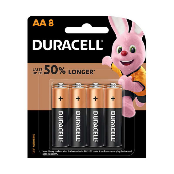 Duracell ถ่านอัลคาไลน์ AA แพ็ค 8 ก้อน