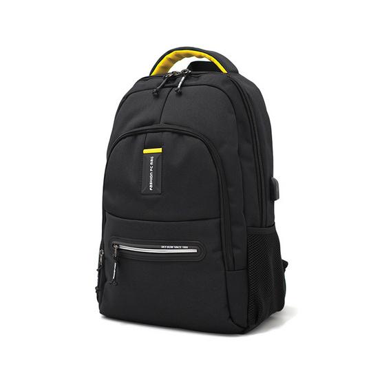 HQ LUGGAGE กระเป๋าเป้ โน้ตบุ๊ค Sky-bow รุ่น P9927 (สีดำ)