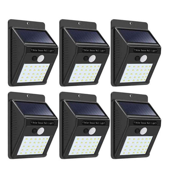 TV Direct SOLARLIGHT รุ่น30LED ไฟโซล่าส่องสว่าง 6 ชิ้น