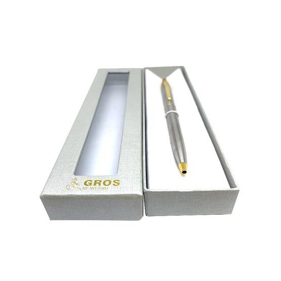 GROS ปากกาด้ามเงินแหนบทอง No.9304