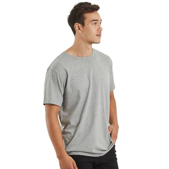 Double Goose ตราห่านคู่ เสื้อคอกลม สีเทา รุ่น โมเดิร์น Super Soft แพ็ค 1