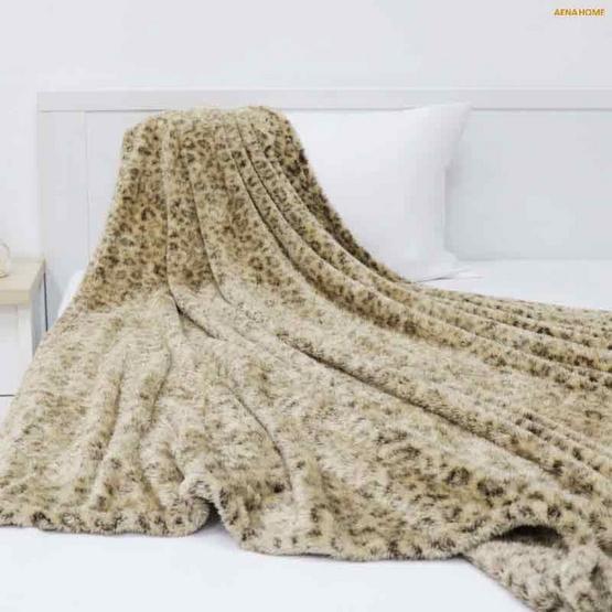 Aena ผ้าห่มพิมพ์ลายเสือดาว 60x70 นิ้ว